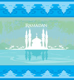 Stylish ramadan kareem card Royalty Free Stock Photo