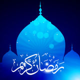 Stylish ramadan kareem vector. With mosque