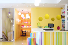 Stylish reception and kids room in cafe Anderson Stock Photo