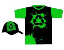 Stylish recycle t-shirt design vector Royalty Free Stock Images