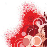 Stylish red banner Stock Image