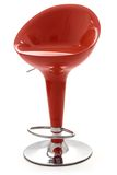 Stylish red bar stool. Red stylish swivel chair - isolated on white stock images