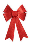 Stylish red bow glittering on white background, studio shot Stock Photography