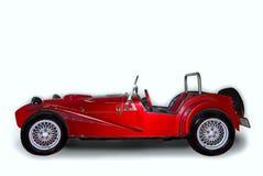 Stylish red car. On white background stock image