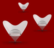 Stylish Red Chairs Royalty Free Stock Photography