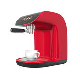 Stylish red coffee machine with touch screen Stock Image