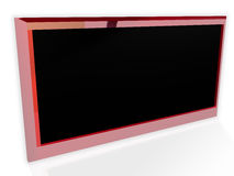 Stylish Red LCD Screen Royalty Free Stock Photos