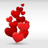Stylish red valentine day heart background Stock Photo