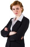 Stylish redhead businesswoman in suit Royalty Free Stock Photography