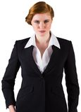 Stylish redhead businesswoman in suit Royalty Free Stock Photos