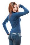Stylish redhead woman portrait Royalty Free Stock Photo