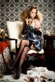 Stylish Redheaded Model With Perfume Stock Image