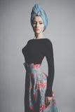 Stylish refined lady royalty free stock photo