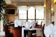 Stylish restaurant interior Stock Image