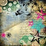 Stylish retro background. With graffity elements royalty free illustration