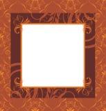Stylish retro brown frame. Illustration stock illustration