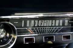 Stylish retro dashboard of classic car Stock Photos