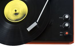 Stylish retro turntable Royalty Free Stock Photography