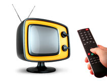 Stylish retro TV. Royalty Free Stock Images