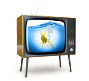 Stylish retro TV. Stock Image
