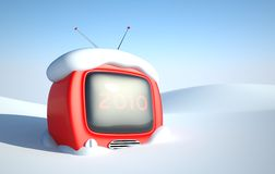 Stylish retro TV Stock Photography