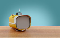 Stylish retro TV sixties Royalty Free Stock Photos
