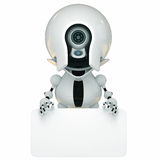 Stylish robot with empty board Stock Photography