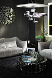 Stylish room with sofas and round magazine table Stock Image