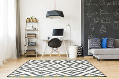 Stylish room for a student stock photography