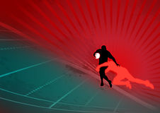 Stylish rugby action background. Stylish rugby action with dynamic background Royalty Free Stock Image