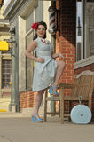 Stylish 1940's pin up girl Royalty Free Stock Photo