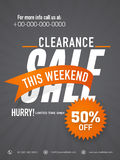 Stylish sale flyer or banner with 50% discount offer. Royalty Free Stock Image