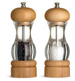 Stylish salt and pepper condiments dispenser  Royalty Free Stock Photography