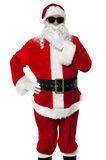 Stylish Santa Claus portrait on white background Royalty Free Stock Image