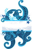 Stylish sea ornament Stock Photos
