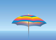 Stylish sea umbrella Royalty Free Stock Photo
