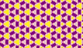 Stylish seamless geometric pattern with different shapes of violet and yellow shades Royalty Free Stock Photography