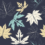 Stylish seamless pattern with autumn leaves Royalty Free Stock Image