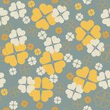 Stylish seamless pattern with Clover leaves for St. Patrick's Stock Photos