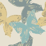 Stylish seamless pattern with cute butterflies Stock Image