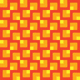 Stylish seamless pattern of different square shapes in red, orange and yellow colors Royalty Free Stock Photography