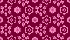Stylish seamless pattern of geometrical elements in purple and pink shades Royalty Free Stock Images