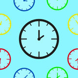 Stylish seamless pattern of mechanical watches Royalty Free Stock Image