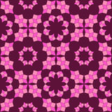 Stylish seamless pattern of pink shades geometrical objects on purple background Stock Photography