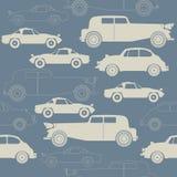 Stylish seamless pattern with retro cars Royalty Free Stock Photos