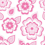 Stylish seamless pattern with sakura and leaves Stock Photo
