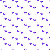 Stylish seamless pattern with watercolor hearts. Texture for web, print, valentines day wrapping paper, Royalty Free Stock Image