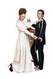 Stylish seamstress Royalty Free Stock Photos
