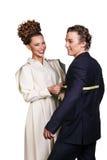 Stylish seamstress Royalty Free Stock Image