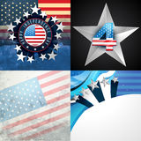Stylish set of american independence day background. Vector stylish set of american independence day background illustration Royalty Free Stock Image